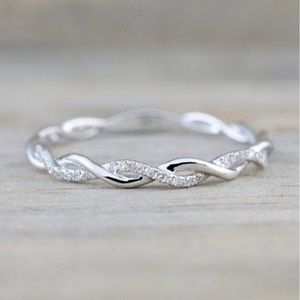 Jewelry - Sterling Silver Twisted Eternity Band Ring